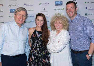 2 IrelandWeek - Ambassador Dan Mulhall featured artist Lisa Hannigan Angela Dorgan of Music From Ireland and Consulate General Robert O'Driscol
