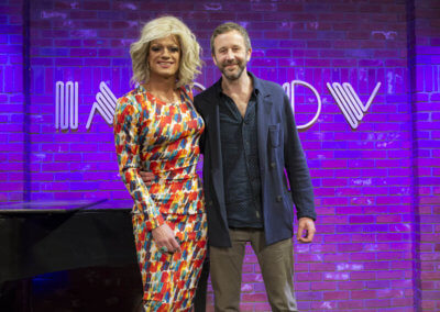 2 IrelandWeeks Panti Bliss LIVE in LA at the Hollywood Improv - Panti Bliss and Chris O'Dowd (1)